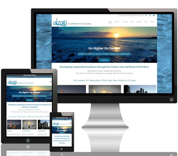 Alzati Leadership Coaching website responsive