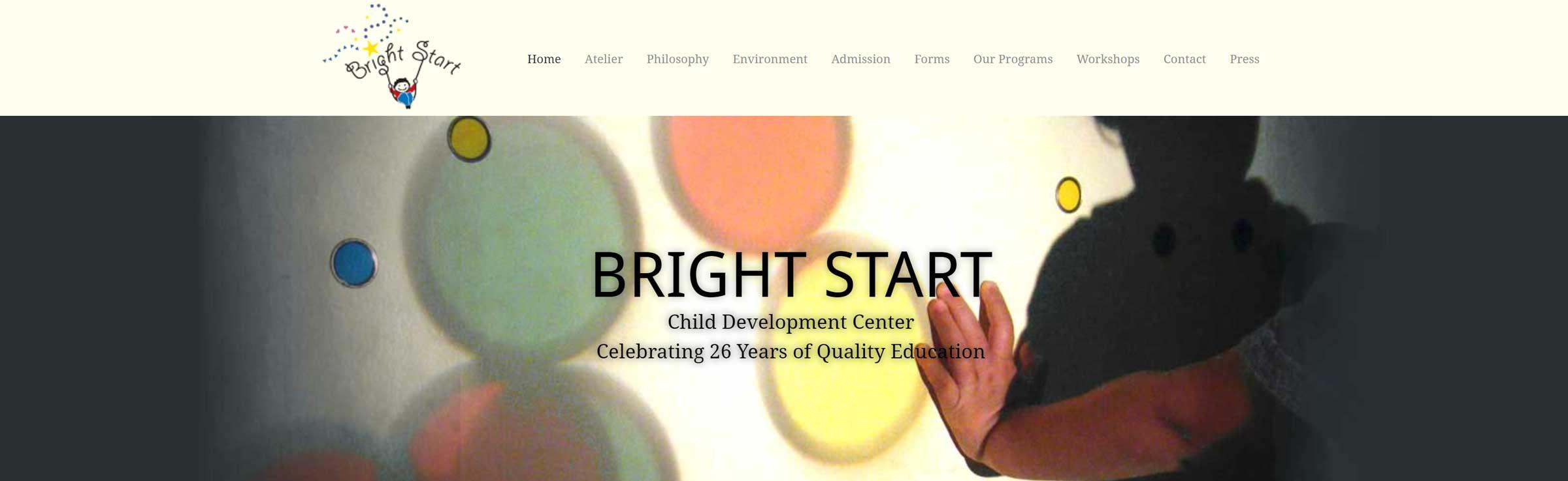 Bright Start banner