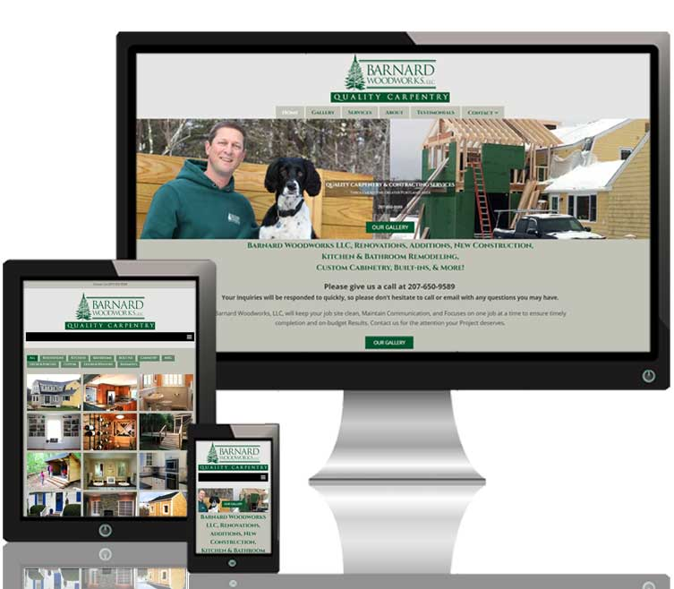Barnard Woodworks LLC responsive website