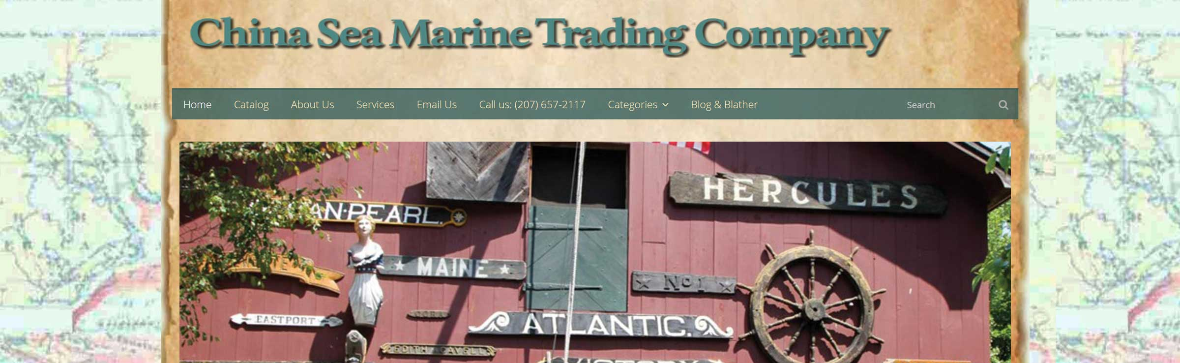 China Sea Trading Company banner