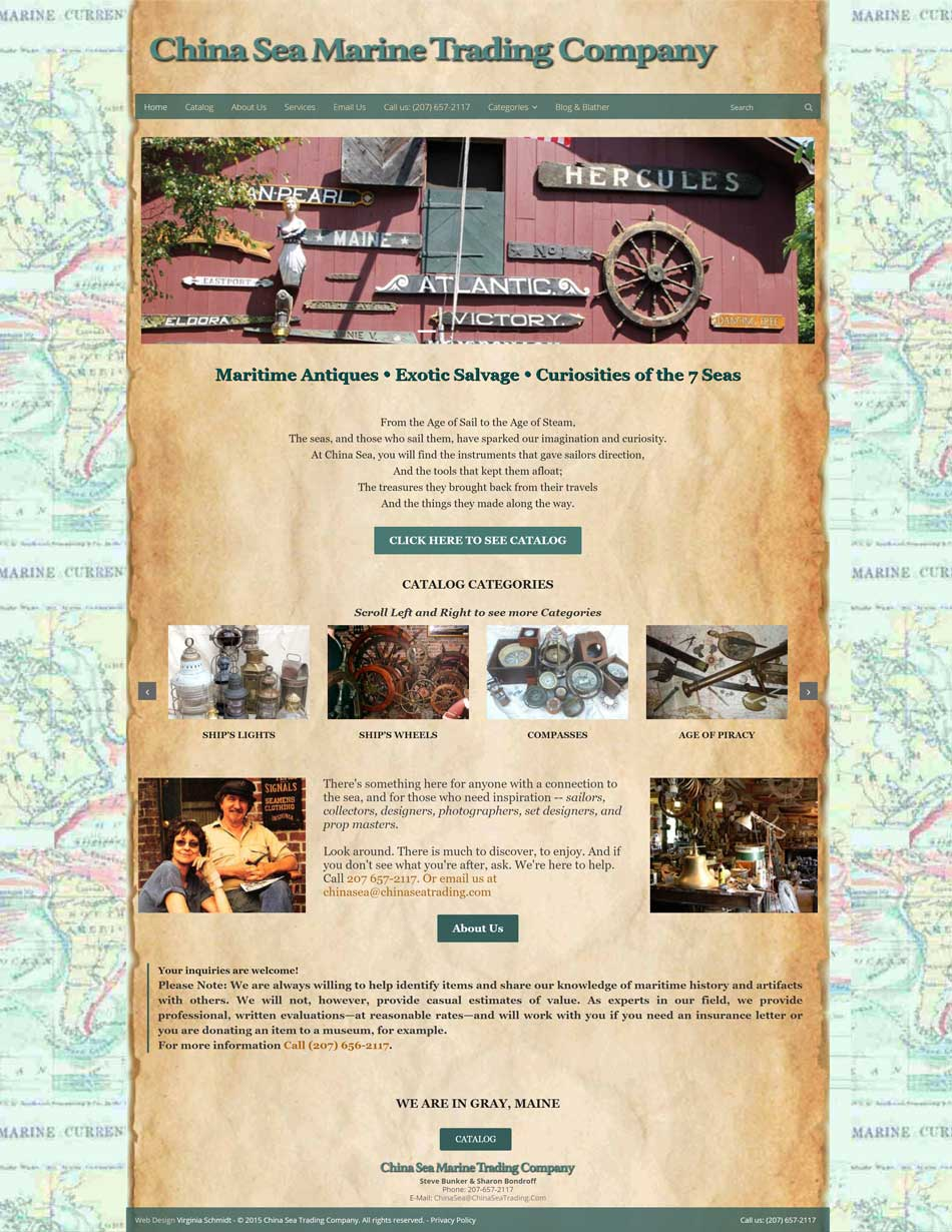 China Sea Trading Company website screenshot