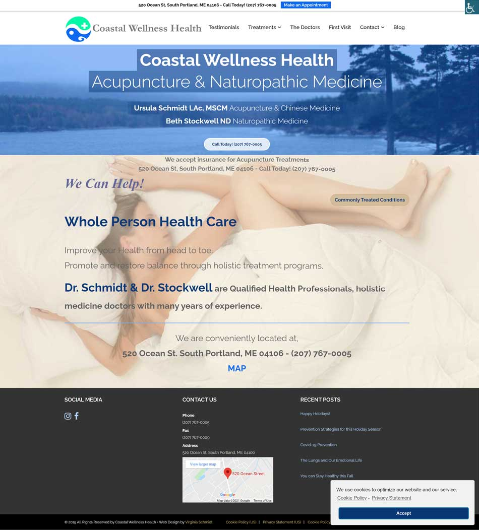 Coastal Wellness Health website screenshot