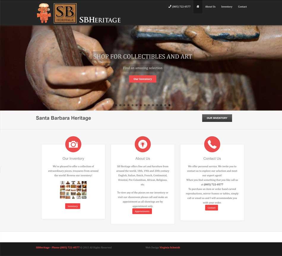 Santa Barbara Heritage website screenshot
